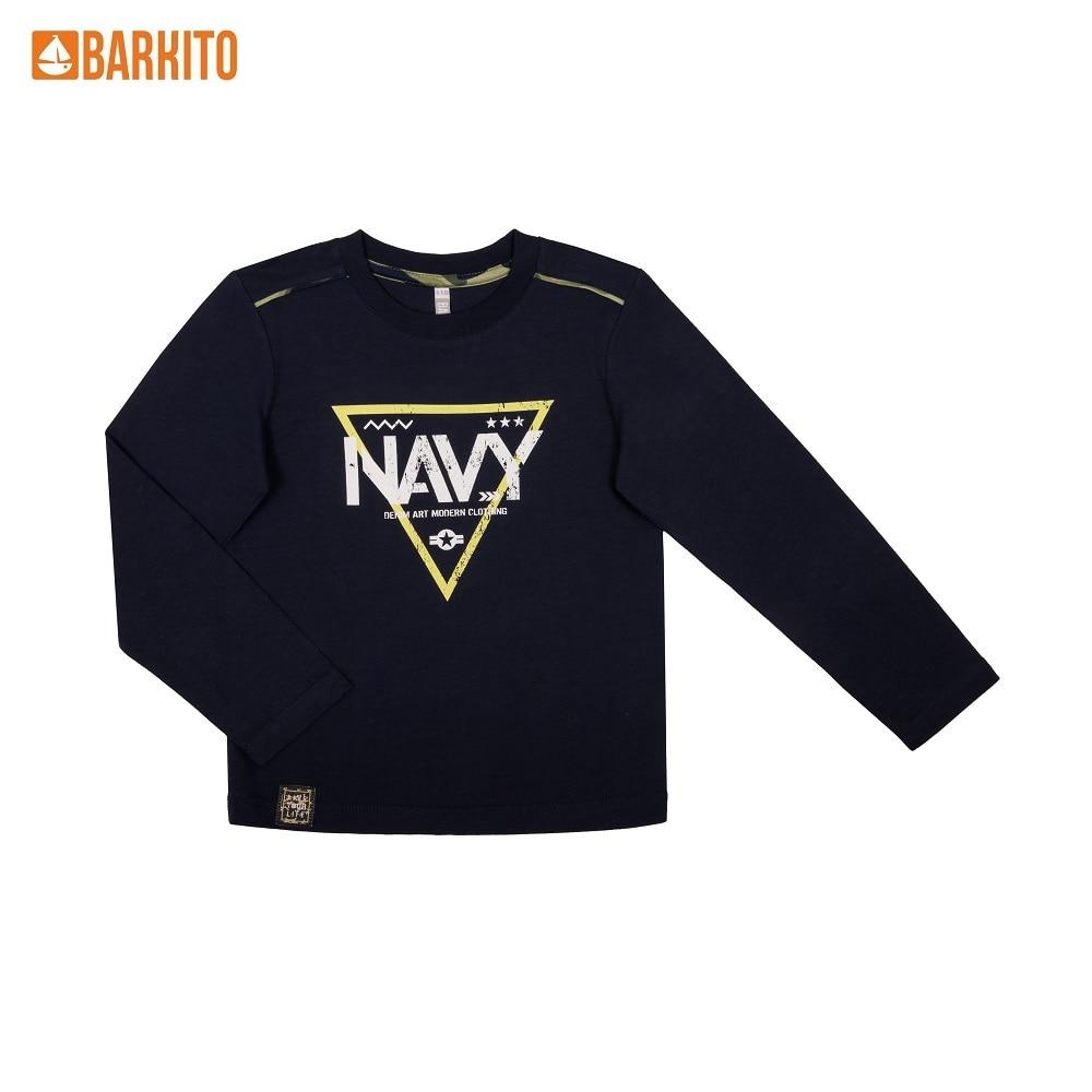 T-Shirts Barkito 340229 children clothing Cotton S19B4010J(3) Blue Boys Casual цены онлайн