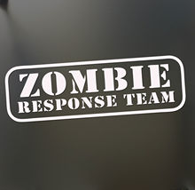 цена на Zombie Walking Dead Sticker JDM Response Team Motorcycle SUVs Bumper Car Window Car Stylings Vinyl Decals