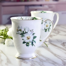 Chinese Style Chrysanthemum Creative Bone China Ceramic High Quality Coffee Milk Hot Water Drinks Office Business Tea Cup Mugs