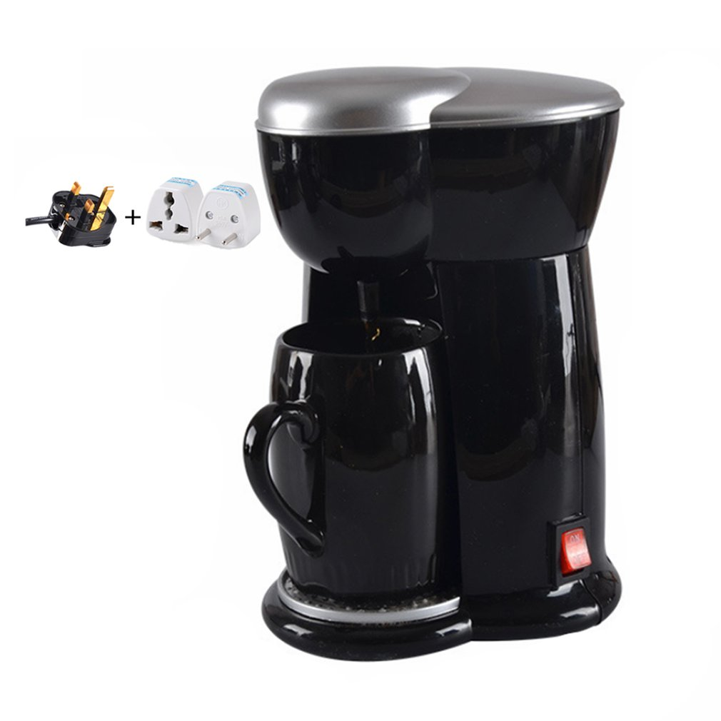 300W 1 Cups Drip Coffee Makers Electric Automatic Steam Tea Espresso Coffee Machine For Home Cafe Making300W 1 Cups Drip Coffee Makers Electric Automatic Steam Tea Espresso Coffee Machine For Home Cafe Making