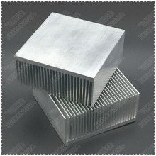 LED electronic heat sink 69x69x37MM  2pcs high-power radiators fan power switch aluminum