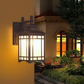 Veranda ip55 방수 야외 벽 램프 빌라 정원 베란다 조명 안뜰 발코니 통로 풍경 빛에 대 한 led 랜 턴