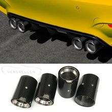 Real Carbon Fiber Exhaust Muffler Tips M Performance Exhaust pipe For BMW M1 M2 M3 M4 M5 M6 Carbon Exhaust Tips