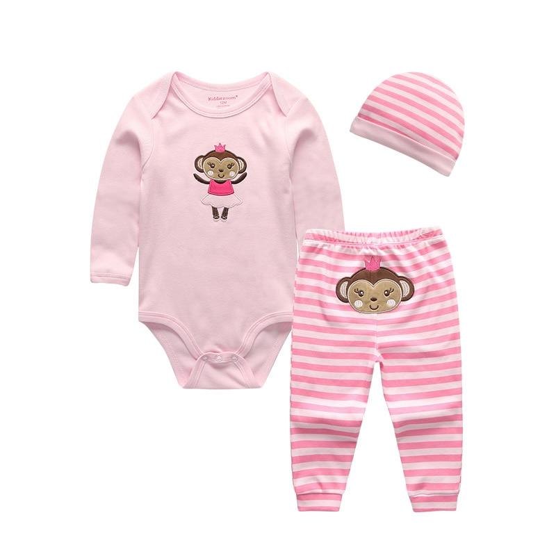 2019 Unisex 3PCS/Lot Sock Pant Hat 0-Neck Girls Baby Clothing Set Short/Full Sleeve Newborn Baby Girl Clothes Baby Boy Clothes 1