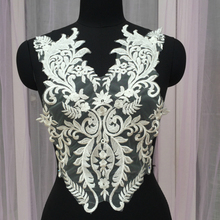 Exquisite Paillette Embroidery Tulle Lace Sexy Chest V Word Neckline Applique DIY Wedding Dress Model Full Lining Accessories