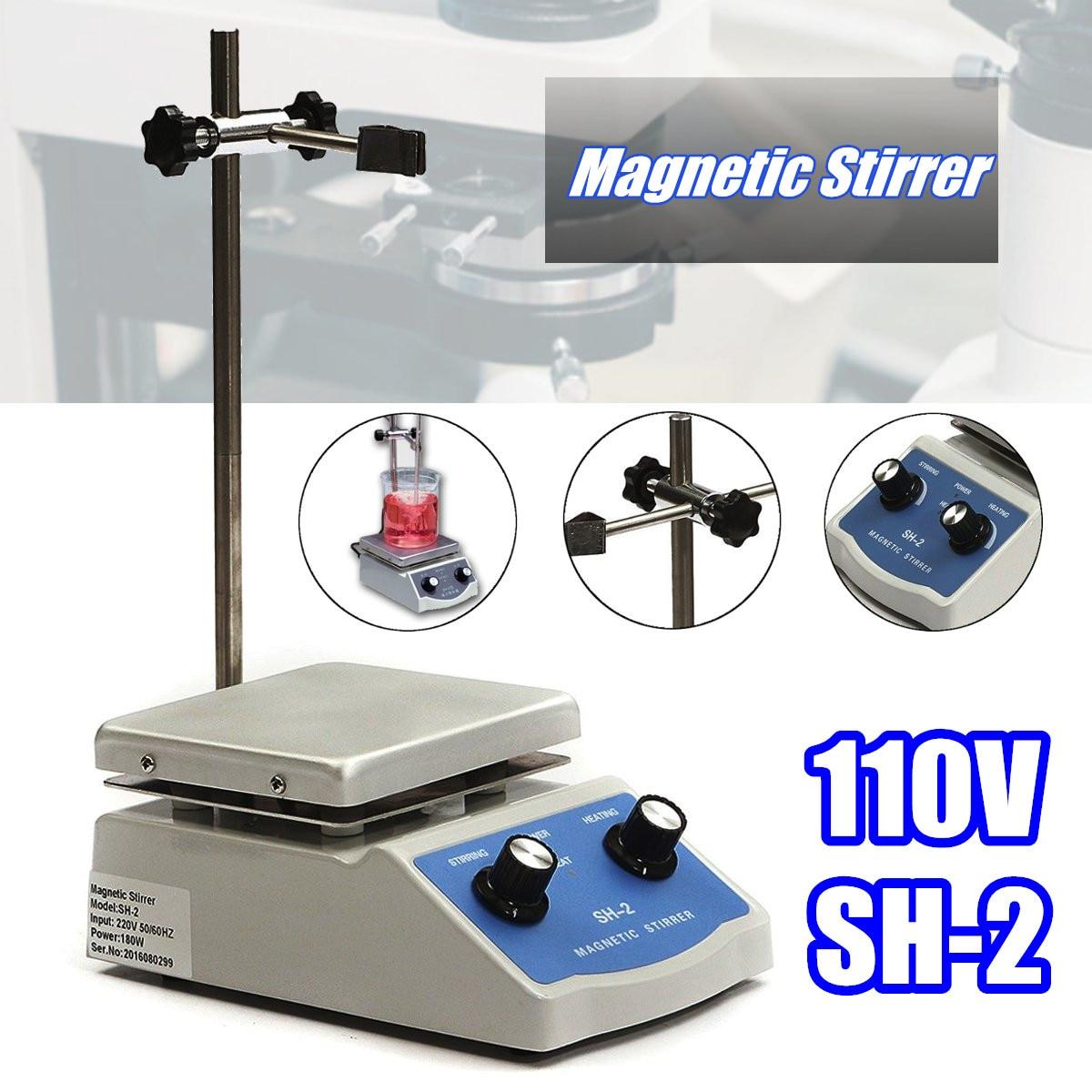 New Hot Plate Magnetic Stirrer 110V/50Hz SH-2 Hot Plate Magnetic Stirring Machine Stir Healthcare Lab Stepless Adjustable