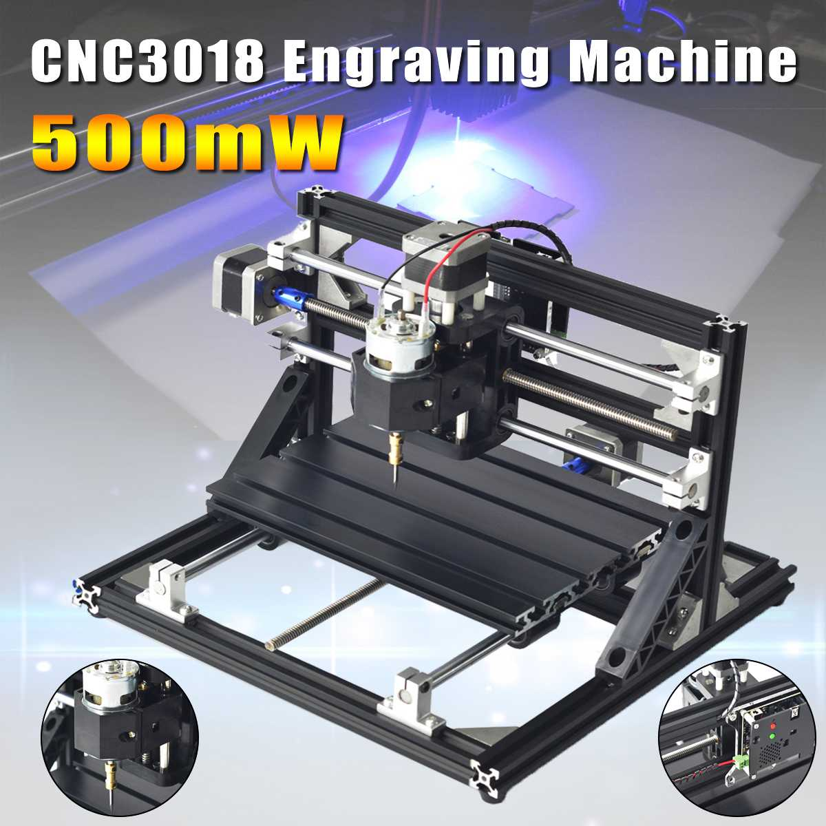 CNC3018 CNC Engraving Machine Laser Engraving Pcb Pvc Milling Machine Wood Router Cnc 3018 With 500 mw Laser Head Grbl Control