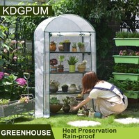 2/3/4Tier Plastic PE Plant Greenhouse Garden Flower Vegetables Green House Rainproof Heat Preservation Greenhouse Cover Serre