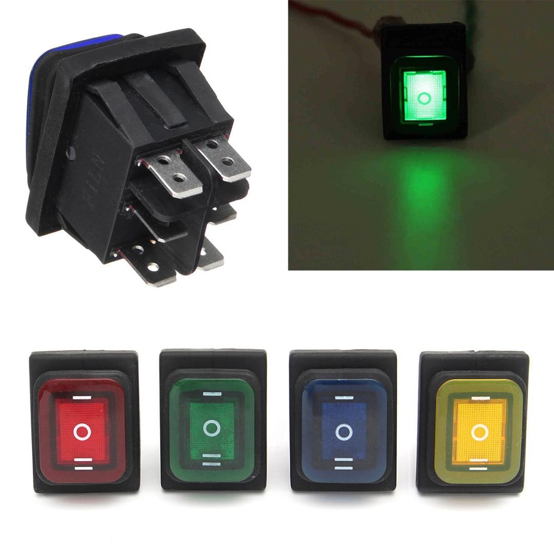 Wippschalter Schalter ein//aus 12V 20A orange LED