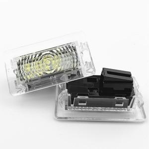 Image 5 - LED blanc Ultra lumineux (lentille transparente) lumière intérieure à haut rendement lampe de porte de voiture Kit de lumière de coffre de flaque deau pour Tesla modèle 3 S X(2 pièces)