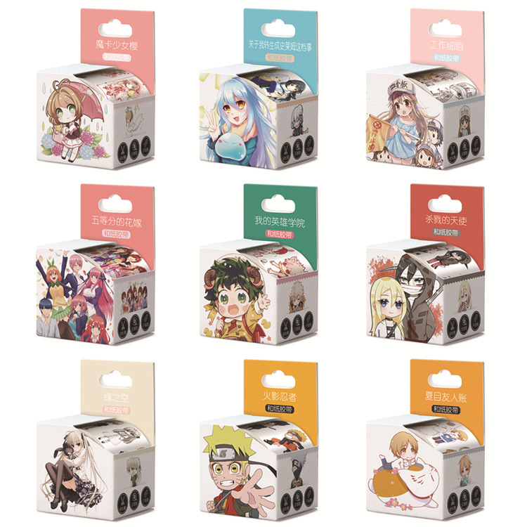 1PC Super Strong 4cm*5m Japanese Animation Washi Adhesive Tape DIY Scrapbooking Sticker Label Masking Tape