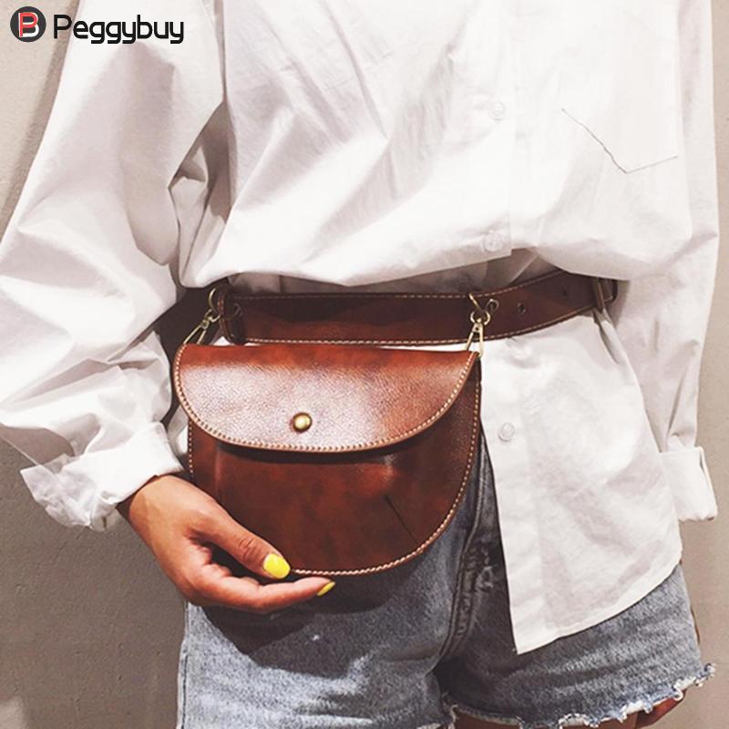 Fashion Leather Belt Bag Women Phone Pouch Fanny Pack Luxury Brand PU Leather Female Waist Pack Heuptas Pochete Сумка на пояс му