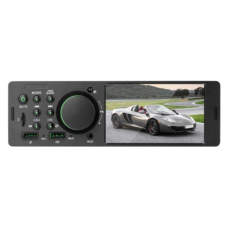 7805 1Din 4.1 Inch Car Stereo Radio Bluetooth FM Aux USB Car MP5 Multimedia Player with Remote Control Support Rear View Camera