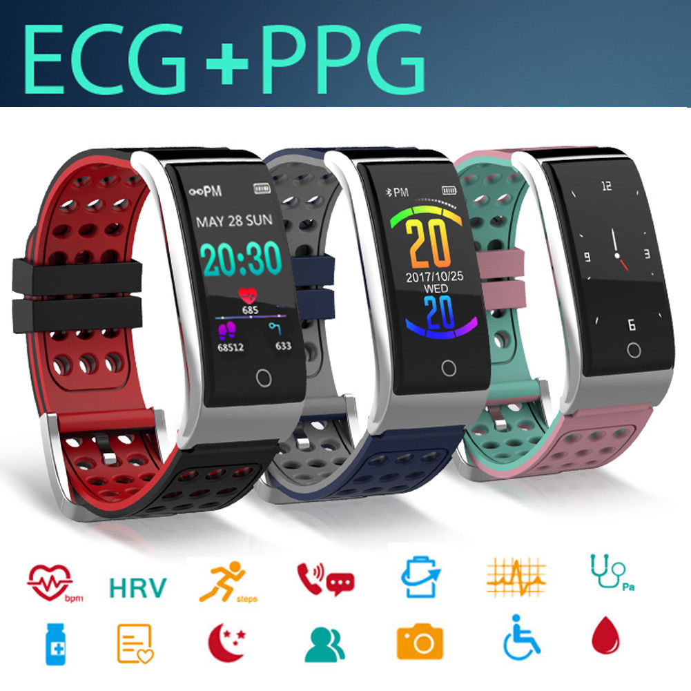 E08 ECG PPG Intelligente Braccialetto Intelligente Fitness Wristband Heart Rate Activity TrackerE08 ECG PPG Intelligente Braccialetto Intelligente Fitness Wristband Heart Rate Activity Tracker