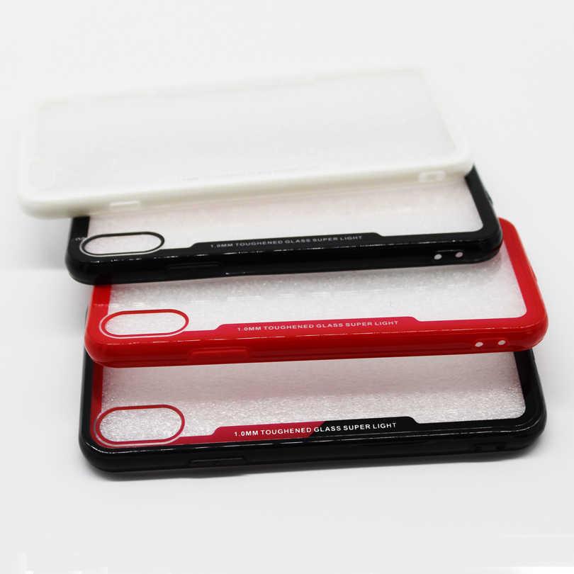 Stoßfest Schutz Ausgeglichenes Telefon Fall Für iPhone X XS 11 Pro MAX XR 5,8 6,1 6,5 5 5S SE 6 6S 7 8 Plus Fällen capa 2019
