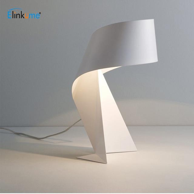 Modern Black and White Table Lamp E27 LED Light for Living room  Bedroom Simple Style