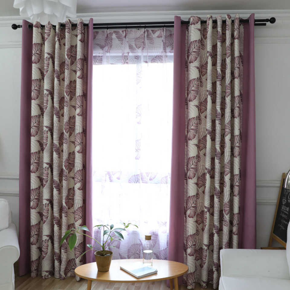 Modern Leaf Blinds Blackout Curtains For Living Room Tulle Roman Curtain For Windows New Sheers Cortina Green Cheap Panel Fabric Curtains Aliexpress