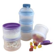 Портативный контейнер для хранения молока для детского питания, контейнер для бутылочки для кормления для детей, трехсетчатый контейнер для детского питания