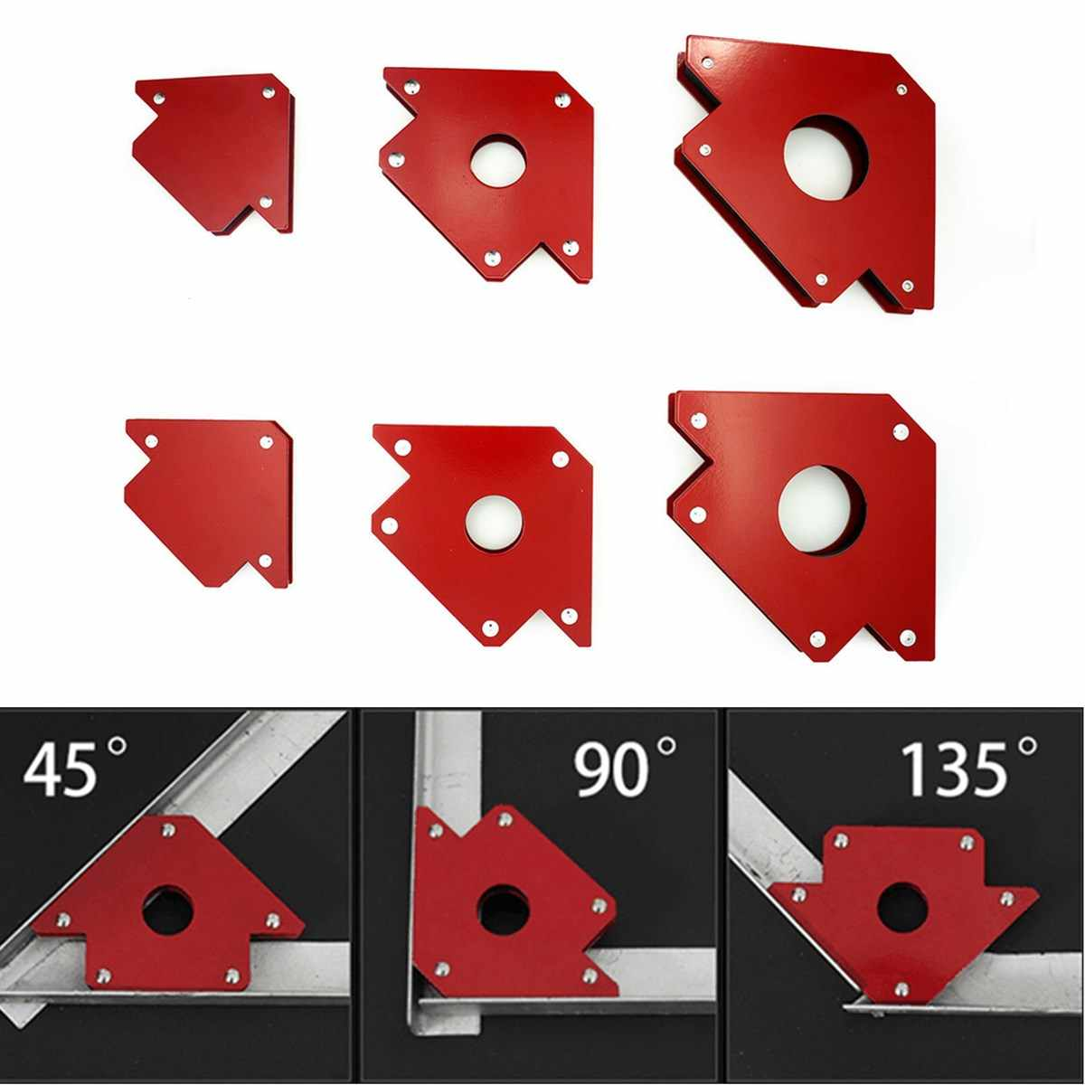 Strong Arrow Welding Magnets 4Pcs Mini Triangle Welding Positioner 9Lb Magnetic Fixed Angle Soldering Locator for Metal Working SOKLIT Arrow Welding Magnet Set