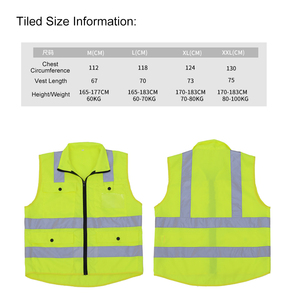 Image 3 - Reflective Safety Vest Reflective Multi Pockets Workwear Security Working Clothes Day Night Cycling Warning Safety Waistcoat