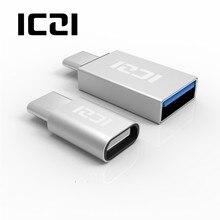 ICZI 2 Pcs USB C Männlich zu Micro USB Weibliche Adapter + USB C Männlichen zu USB 3.0 Weibliche Adapter Konverter für Macbook Pro Samsung s9