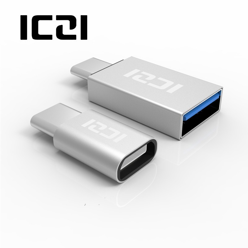 ICZI 2 Pcs USB C Male To Micro USB Female Adapter + USB C Male To USB 3.0 Female Adapter Converter For Macbook Pro Samsung S9