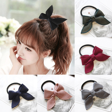 7 color bow elastic hair rope rubber band adjustable ladies ponytail hair band fashion  hair accessories  charming boutique charming cross elastic hair band for women