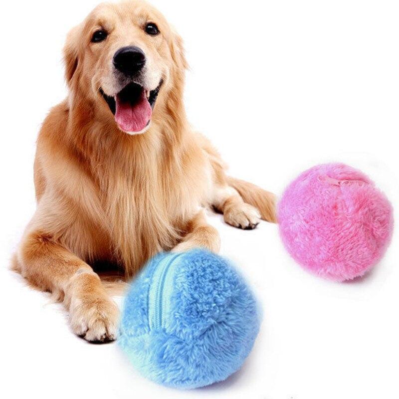 Pet Elektrische Spielzeug Ball Magic Roller Ball Spielzeug Automatische Roller Ball magic ball Hund Katze Pet Spielzeug Verwenden Müssen batterie 5 teile/satz