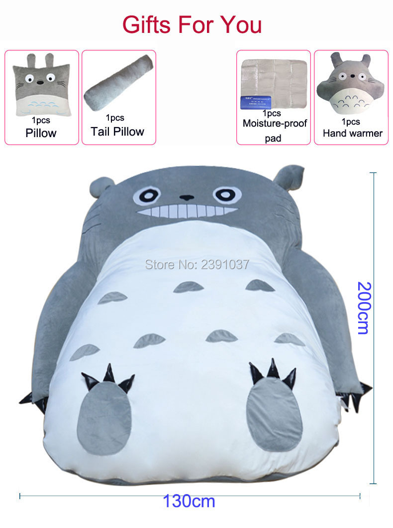 200x130CM My Neighbor Totoro Tatami Sleeping Double Bed Beanbag Sofa For Adult Warm Cartoon Tatami Sleeping Bag Mattress-in Bean Bag Sofas from Furniture on Aliexpress.com | Alibaba Group