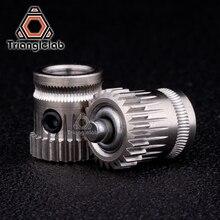 Trianglelab внутренний диаметр 8 мм Drivegear Комплект двойной привод шестерни экструдер комплект клонированный Btech обновление для Prusa i3 Боуден экструдер