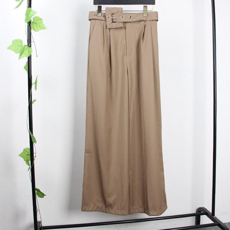 2019 spring autumn korean fashion new casual black khaki trousers streetwear women high waist. Black Bedroom Furniture Sets. Home Design Ideas