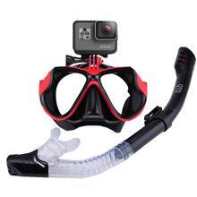 3eaf2d5e12bb Panoramiczny szeroki widok maska fajka do nurkowania zestaw Anti-Fog Scuba maska  do nurkowania dla GoPro góra i Earplug