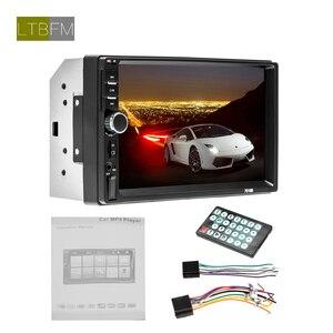 "Image 5 - LTBFM dokunmatik ekran 2 Din araba radyo 7 ""araba Stereo radyo Bluetooth Autoradio multimedya araba MP5 çalar otomatik ses FM USB kamera"