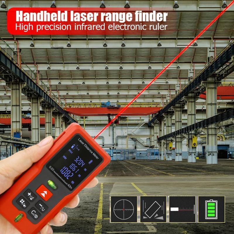 40m 60m 80m 100m Laser Rangefinder Digital Laser Distance Meter battery powered laser range finder tape distance measurer