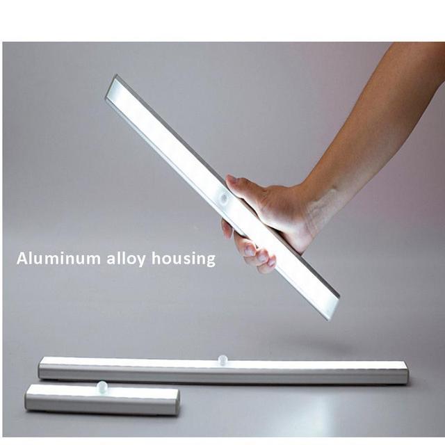 LED Under Cabinet Light PIR Motion Sensor Lamp 64 LEDs 48mm USB Lighting for Wardrobe Cupboard Closet Kitchen Night Light
