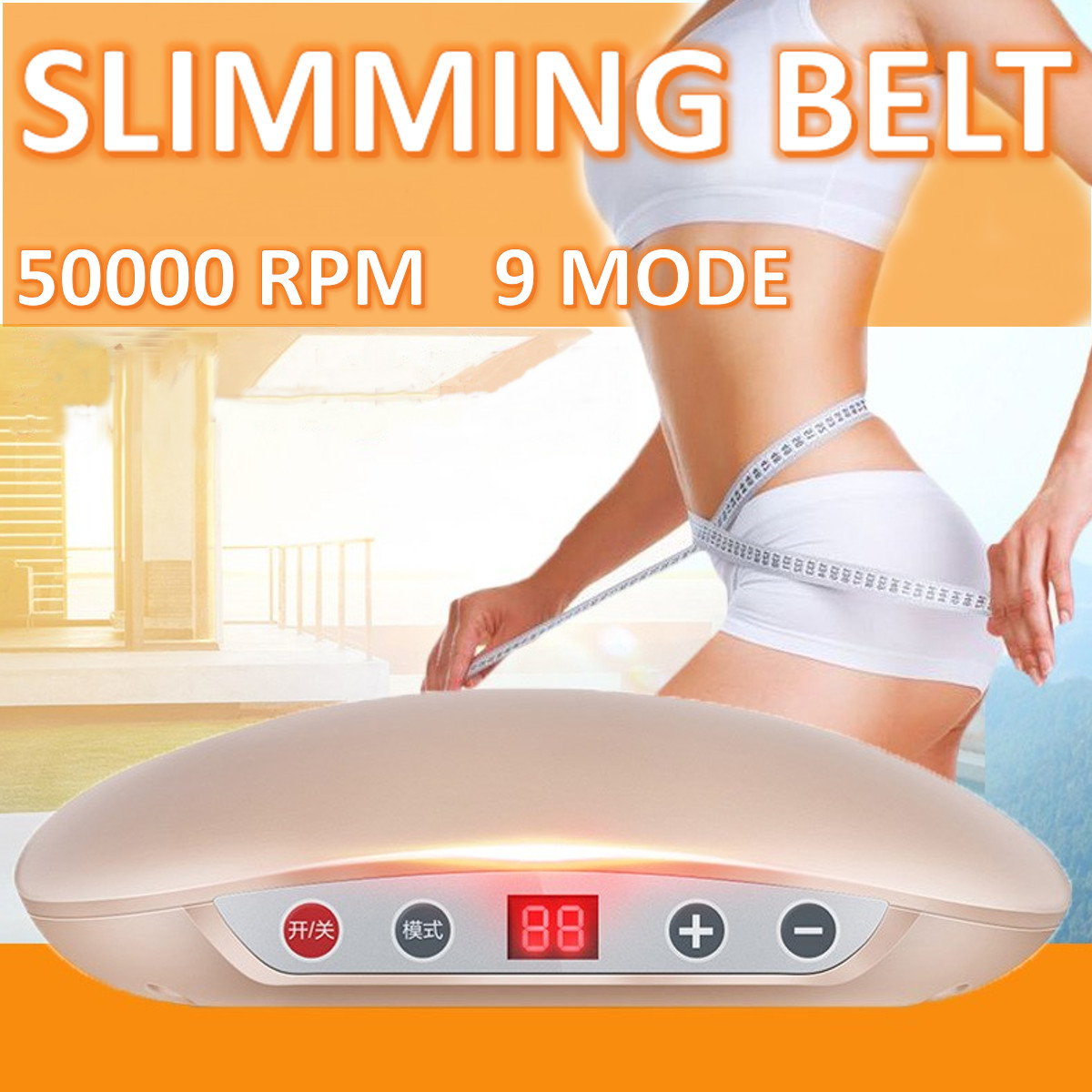 9 Speed Electric Slim Belt Lipolysis Substance Cold Freeze Shaping Body Weight Fat Loss Machine Anti Cellulite Dissolve Massager