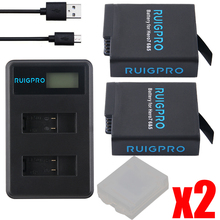 2Pcs AHDBT501 Hero5 Battery Akku+ USB LED 3-Port Charger with Type C Port for GoPro 2018 Hero 5 GoPro Hero 6/7 Camera Battery 3pc for gopro 2018 gopro hero 5 battery 1600mah gopro 6 7 battery usb battery charger type c for gopro hero5 black accessories page 3 page 6 page 9 page 10