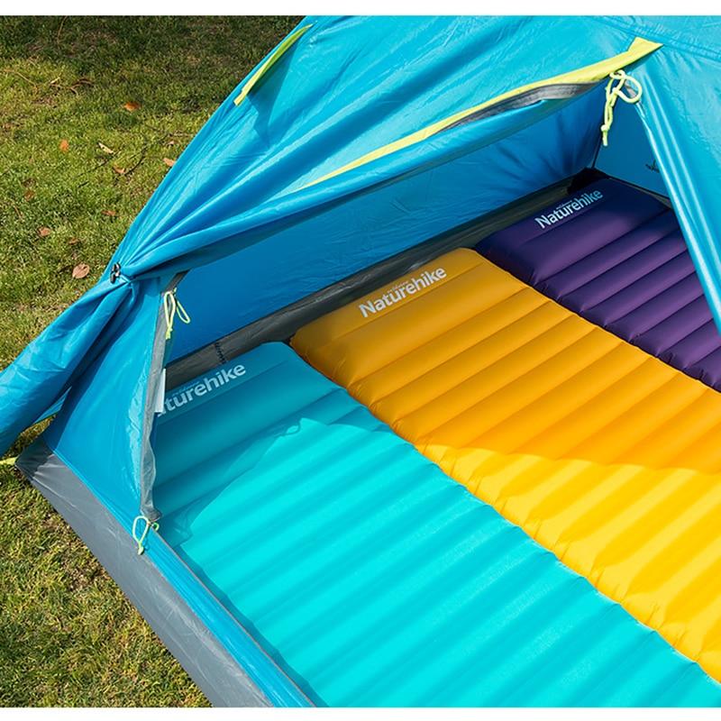 Naturehike Air Bed 7.5cm Thicken Camping Mat  With Pillow Lightweight Outdoor Tent Sleeping Pad Inflatable Mattress For Tent Mat