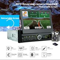 Car MP5 Player Bluetooth Handsfree HD Digital 7 inch GPS Navigatie Retractable Car Touch Screen Stereo Audio Car MP5 Player