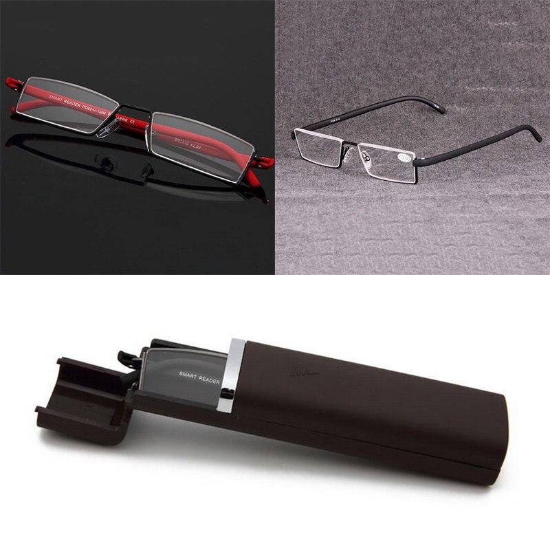 Aggressiv Mayitr Unisex Halb Rahmen Randlose Reader Lesebrille 2 Farben Professionelle Flexible Presbyopie Brillen Mit Fall + 1,0-+ 4,0 Auf Dem Internationalen Markt Hohes Ansehen GenießEn