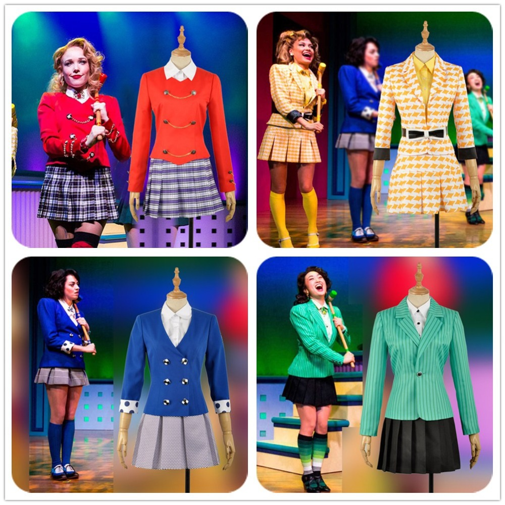 Heathers Jacket Skirt The Musical Rock Chandle McNamara Veronica Duke Cosplay Costume Girl Stage Dress Halloween Carnival