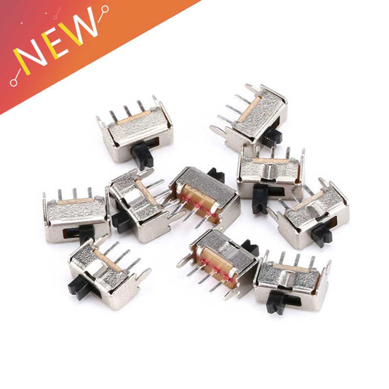 40 PCS/Lot SS12D07 Mini interrupteur à glissière verticale 1P2T 3 broches interrupteur à bascule SMD PCB DPDT interrupteur Vertical de haute qualité