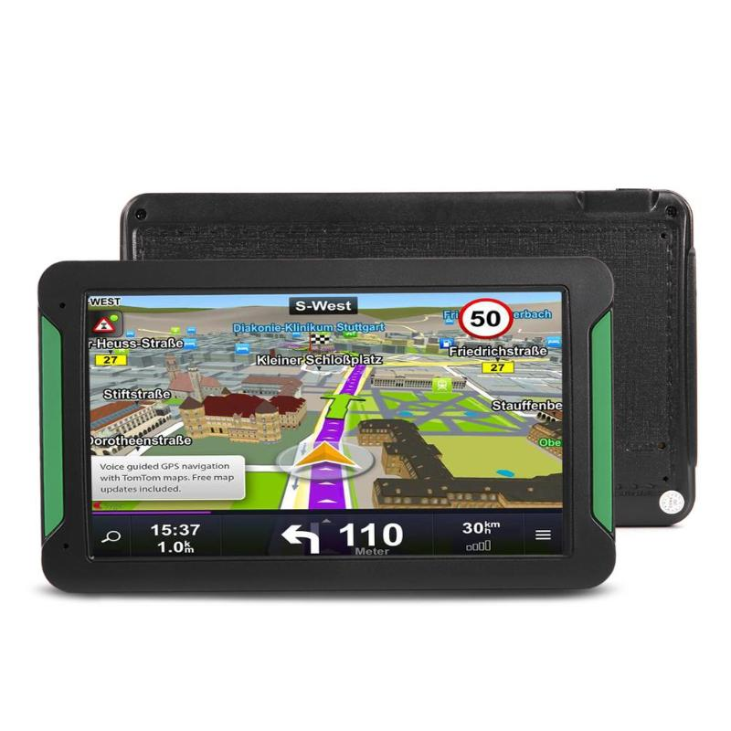 "VODOOL Portable 7"" HD Touch Screen Car GPS Navigation 8GB FM Transmitter MP3 MP4 Player 2018 Latest Map Car Truck GPS Navigator"