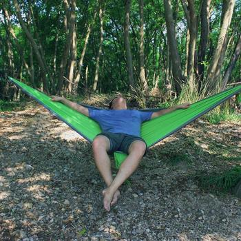 Nylon Double Person Hammock Adult Camping Outdoor Backpacking Travel Survival Hunting Sleeping Bed 3