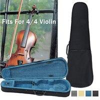 4/4 Violin Storage Case Organizer Waterproof Handheld Musical Instrument Backpack Box Violin Accessories Shockproof 4 Colors