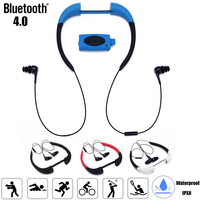 32GB Waterproof Sport MP3 Music Player Neckband Stereo Earphone Audio Headset with FM Radio for Diving Swimming