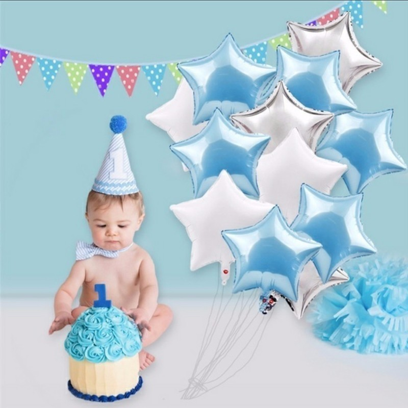5pcs 18inch Five-pointed Foil Star Balloons Wedding Decorations Globos Babyshower Birthday Party Decorations Kids Children's Toy