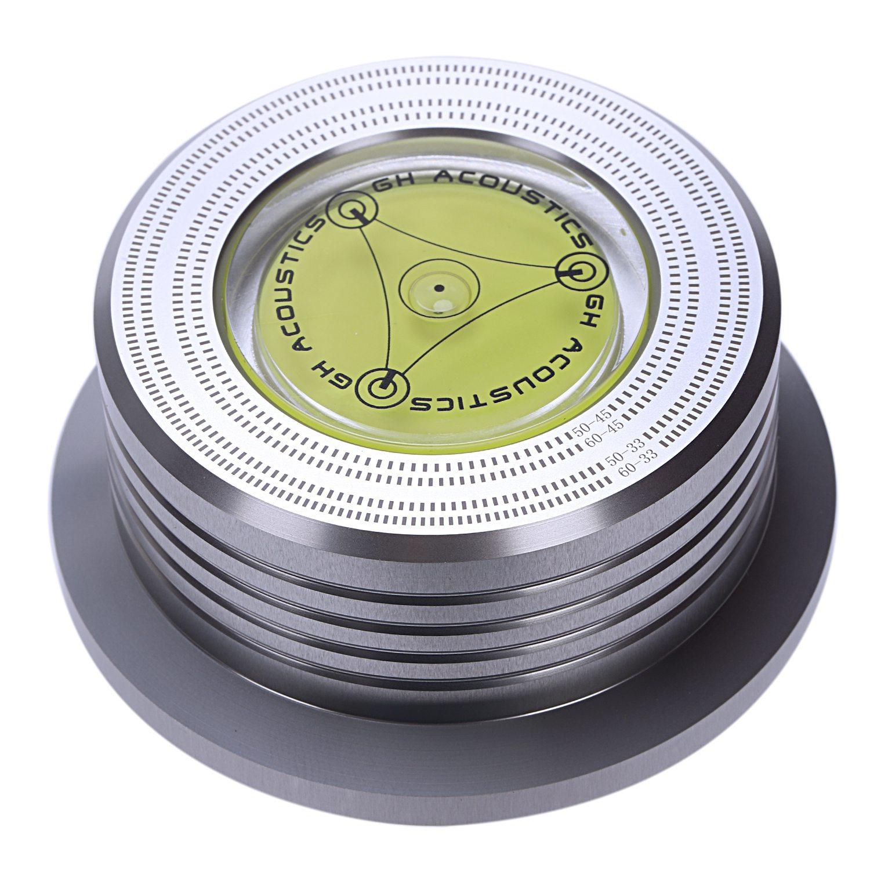 Duftendes Aroma Universal 50/60hz Lp Vinyl Record Audio Disc Plattenspieler Stabilisator Clamp Aluminium Gewicht Clamp Mit Test Geschwindigkeit Blase silber