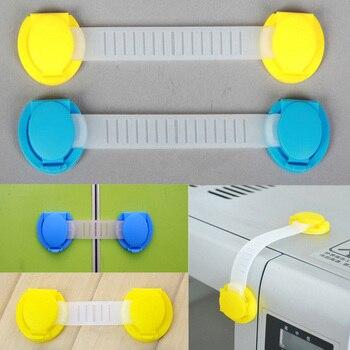 10 unids/pack los niños protección cerraduras bebé de seguridad cerradura de la puerta de largo corto estilo ABS cerraduras cerradura de cajón accesorios de muebles domésticos