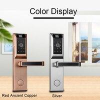 Блокировка отпечатков пальцев цифровой дверной замок Smart APP Bluetooth пароль сенсорный экран для домашней квартиры Электронный Keyless дверной зам